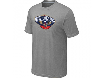 New Orleans Pelicans Big & Tall Primary Logo L.Grey T-Shirt