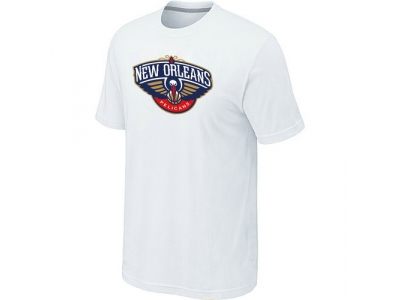 New Orleans Pelicans Big & Tall Primary Logo White T-Shirt