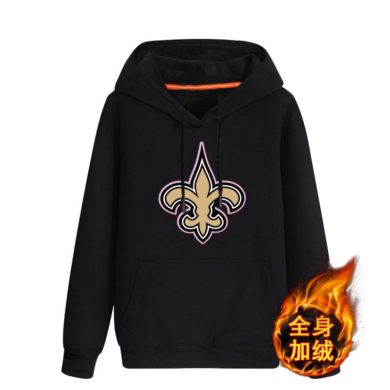 New Orleans Saints Men's Men's Winter Thicken NFL Pullover Hoodie