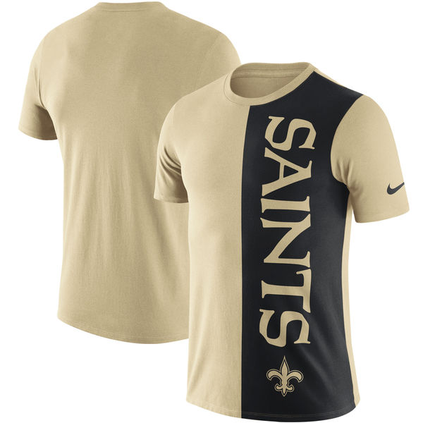 New Orleans Saints Nike Coin Flip Tri Blend T-Shirt Gold Black