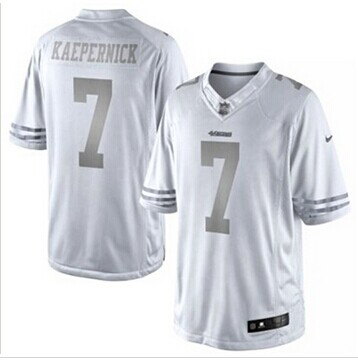 New San Francisco 49ers #7 Colin Kaepernick White Platinum Jersey