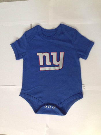 New York Giants Newborn Creeper Set - Royal Blue