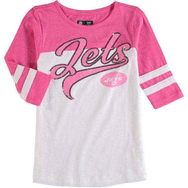 New York Jets 5th & Ocean Women's Half Sleeve T-Shirt Pink