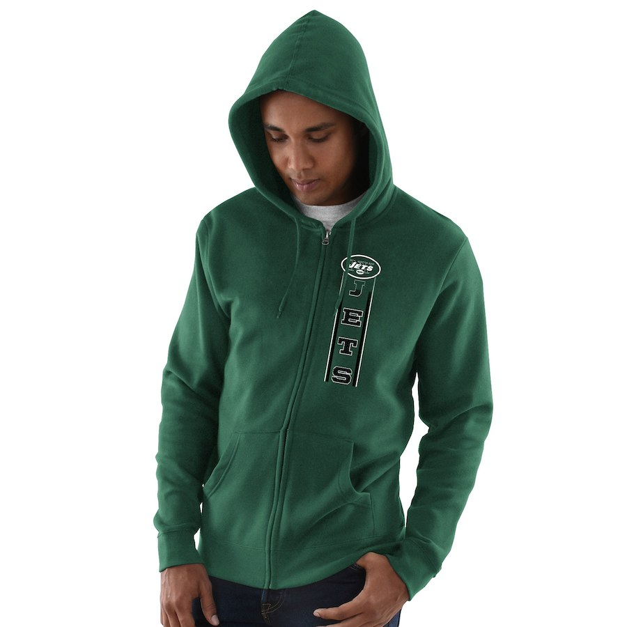 New York Jets Hook And Ladder Full Zip Hoodie Green