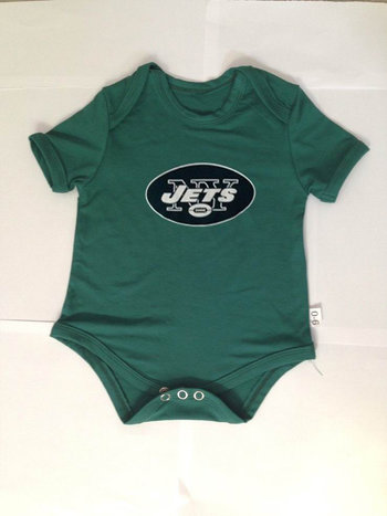 New York Jets Newborn Team Creepers - Green