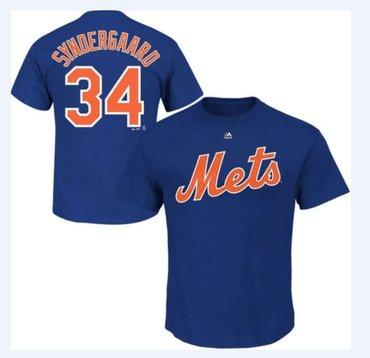 New York Mets 34 Noah Syndergaard Royal T-Shirt