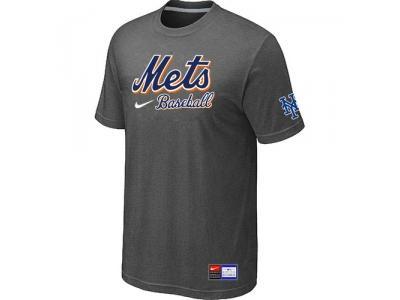 New York Mets D.Grey NEW Short Sleeve Practice T-Shirt
