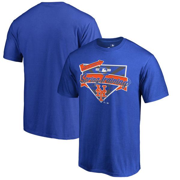 New York Mets Fanatics Branded 2017 MLB Spring Training Logo T Shirt Royal