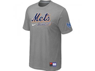 New York Mets L.Grey NEW Short Sleeve Practice T-Shirt