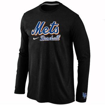 New York Mets Long Sleeve T-Shirt Black