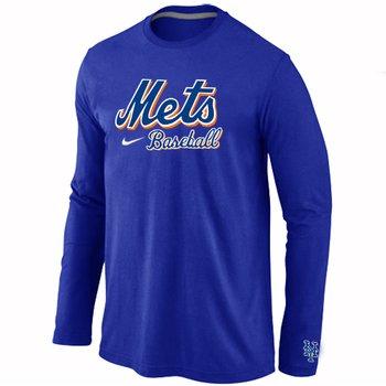 New York Mets Long Sleeve T-Shirt Blue