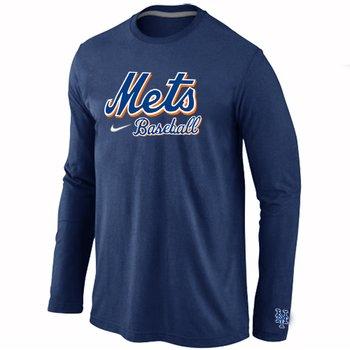 New York Mets Long Sleeve T-Shirt D.Blue