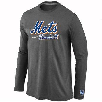 New York Mets Long Sleeve T-Shirt D.Grey