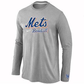 New York Mets Long Sleeve T-Shirt Grey