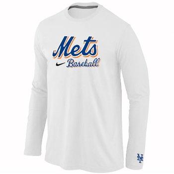 New York Mets Long Sleeve T-Shirt White