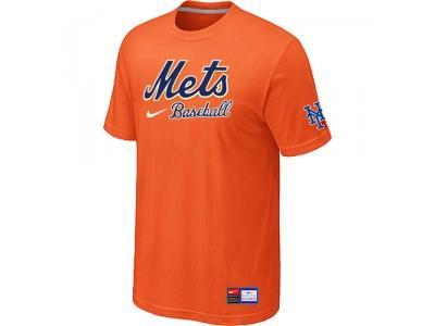 New York Mets Orange NEW Short Sleeve Practice T-Shirt