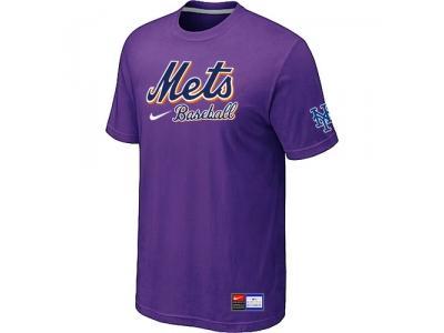 New York Mets Purple NEW Short Sleeve Practice T-Shirt