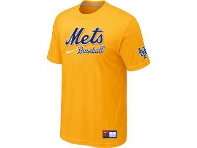 New York Mets Yellow NEW Short Sleeve Practice T-Shirt