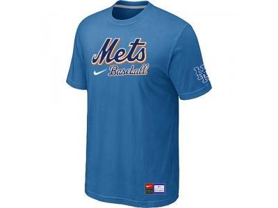 New York Mets light Blue NEW Short Sleeve Practice T-Shirt