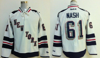 New York Rangers #61 Rick Nash 2014 Stadium Series White NHL Jersey