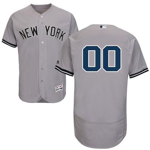 New York Yankees Gray Men's Flexbase Customized Jersey
