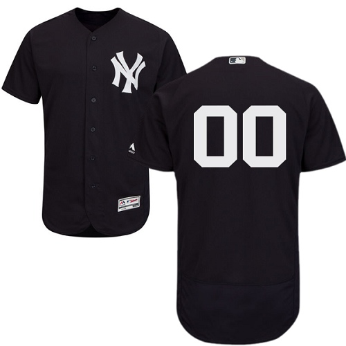 New York Yankees Navy Men's Flexbase Customized Jersey