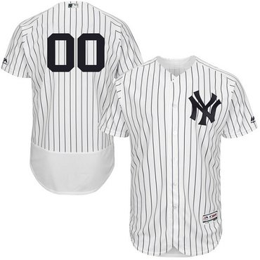 New York Yankees White Men's Flexbase Customized Jersey