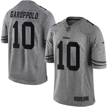 Nike 49ers #10 Jimmy Garoppolo Gray Men's Stitched NFL Limited Gridiron Gray Jersey