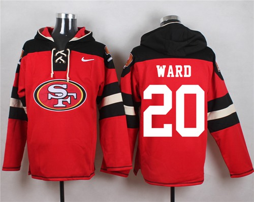 Nike 49ers #20 Jimmie Ward Red Player Pullover NFL Hoodie