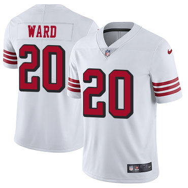 Nike 49ers #20 Jimmie Ward White Rush Men's Stitched NFL Vapor Untouchable Limited Jersey