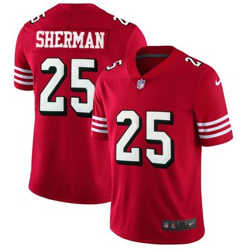 Nike 49ers #25 Richard Sherman Red Rush Stitched NFL Vapor Untouchable Limited Jersey