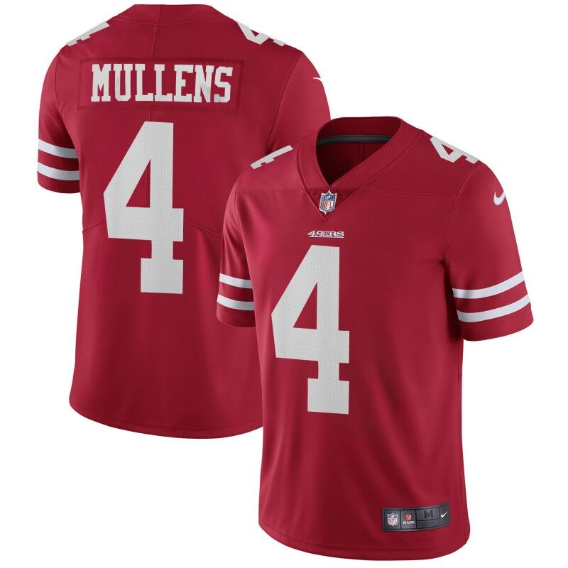 Nike 49ers #4 Nick Mullens Red Team Color Men's Stitched NFL Vapor Untouchable Limited Jersey