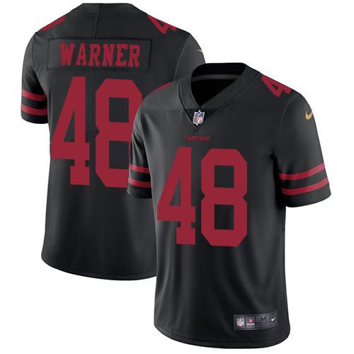 Nike 49ers #48 Fred Warner Black Alternate Men's Stitched NFL Vapor Untouchable Limited Jersey