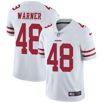 Nike 49ers #48 Fred Warner White Men's Stitched NFL Vapor Untouchable Limited Jersey