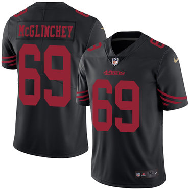 Nike 49ers #69 Mike McGlinchey Black Youth Stitched NFL Limited Rush Jersey