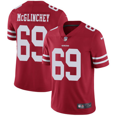 Nike 49ers #69 Mike McGlinchey Red Team Color Youth Stitched NFL Vapor Untouchable Limited Jersey