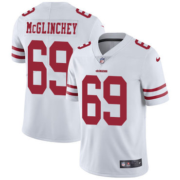 Nike 49ers #69 Mike McGlinchey White Youth Stitched NFL Vapor Untouchable Limited Jersey