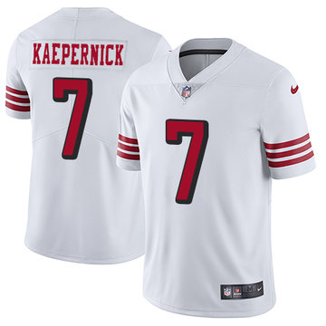 Nike 49ers #7 Colin Kaepernick White Rush Men's Stitched NFL Vapor Untouchable Limited Jersey