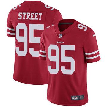 Nike 49ers #95 Kentavius Street Red Team Color Men's Stitched NFL Vapor Untouchable Limited Jersey