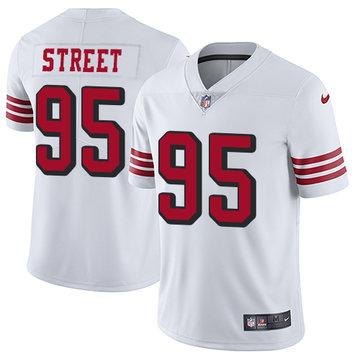 Nike 49ers #95 Kentavius Street White Rush Men's Stitched NFL Vapor Untouchable Limited Jersey