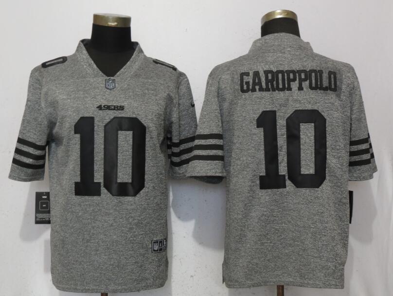 Nike 49ers 10 Jimmy Garoppolo Gray Vapor Untouchable Limited Jersey