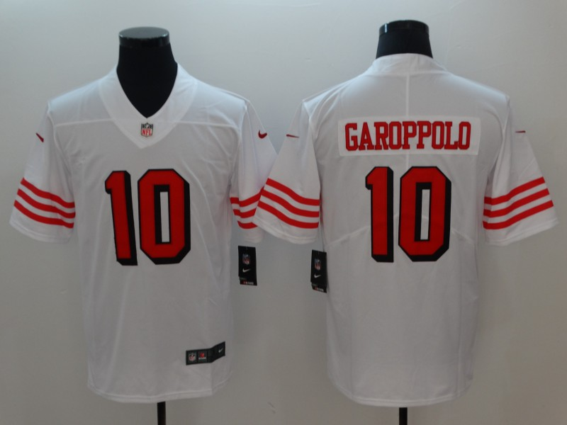 Nike 49ers 10 Jimmy Garoppolo White Color Rush Vapor Untouchable Limited Jersey