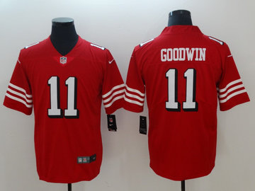 Nike 49ers 11 Marquise Goodwin Red 2018 Vapor Untouchable Limited Jersey