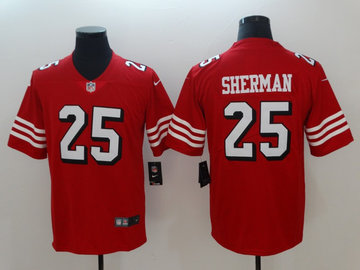 Nike 49ers 25 Richard Sherman Red 2018 Vapor Untouchable Limited Jersey