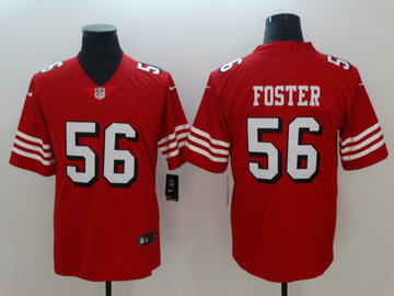 Nike 49ers 56 Reuben Foster Red 2018 Vapor Untouchable Limited Jersey
