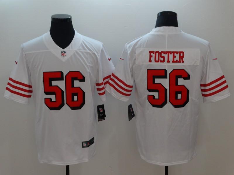 Nike 49ers 56 Reuben Foster White Color Rush Vapor Untouchable Limited Jersey