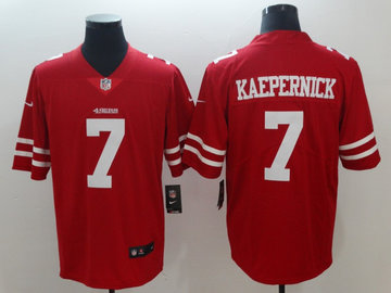 Nike 49ers 7 Colin Kaepernick Red Vapor Untouchable Limited Jersey