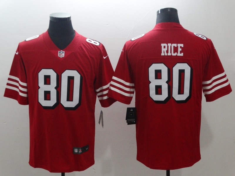 Nike 49ers 80 Jerry Rice Red 2018 Vapor Untouchable Limited Jersey