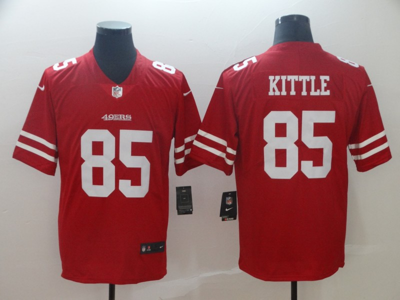 Nike 49ers 85 George Kittle Red Vapor Untouchable Limited Jersey