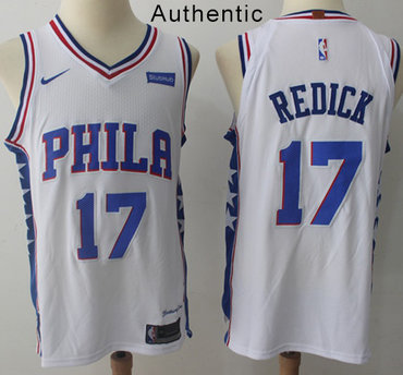 Nike 76ers #17 JJ Redick White NBA Authentic Association Edition Jersey